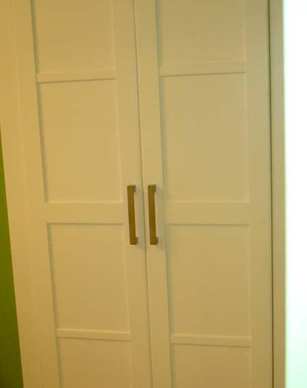 armario empotrado blanco dos puertas