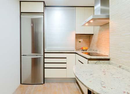 muebles de cocina amarillo claro