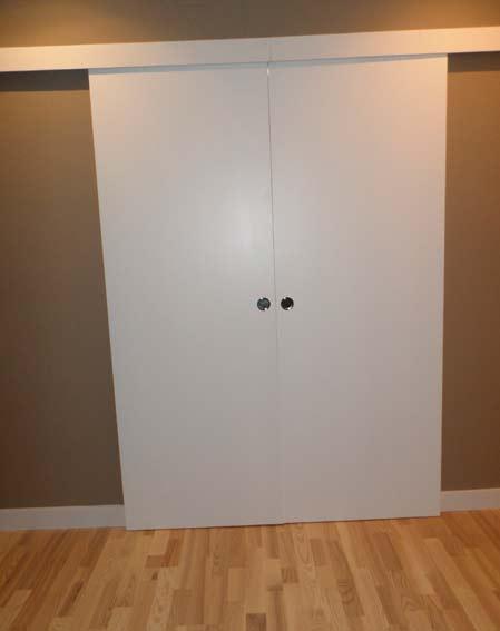 puerta corredera madera blanca