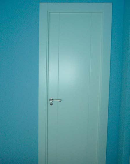 puerta lacada madera blanca