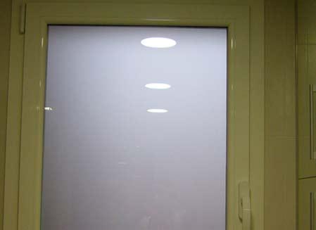 ventana pvc cristal opaco